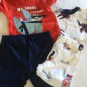 New Carters 4 piece pajamas set 9 months
